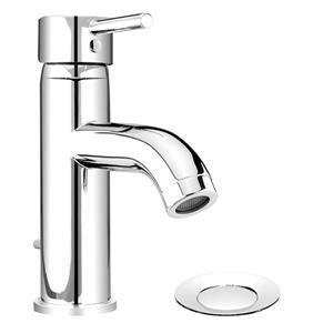 """Robinet pour lavabo de salle de bain, chrome poli, 7.5"""""""