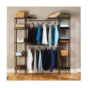 Seville Classic Closet Room Organizer - Bronze
