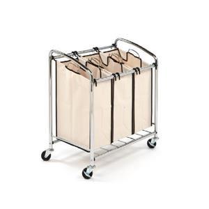 Seville Classics Slanted Laundry Sorter - 3-Bag