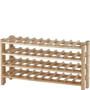 Seville Classics Solid Birch Wood Wine Rack - 40-Bottle