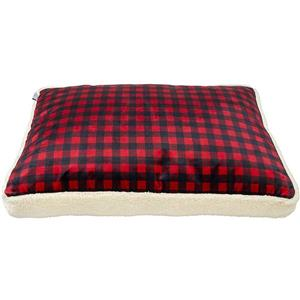 Urban Loft by Westex Buffalo Luxury Dog Bed - 40-in x 28-in x 6-in- Red