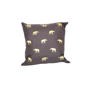 """Coussin décoratif éléphant, 20"""" x 20"""", multicolore"""