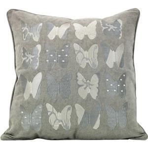 Urban Loft by Westex Butterfly Decorative Cushion - 20-in x 20-in - Multicoloured
