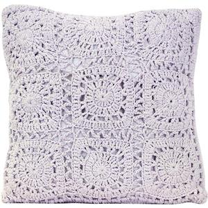 Urban Loft by Westex Crochet Decorative Cushion - 18-in x 18-in - Violet