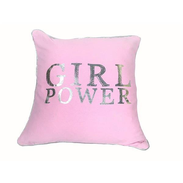 Urban Loft by Westex Girl Power Decorative Cushion - 18-in x 18-in - Multicoloured