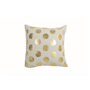 Urban Loft by Westex Dots Large Decorative Cushion - 18-in x 18-in - Gold