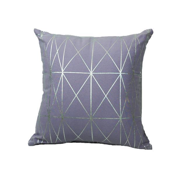 Urban Loft by Westex Foil Geo Decorative Cushion - 18-in x 18-in - Lavender