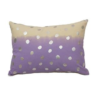 Urban Loft by Westex 2Tone Dot Decorative Cushion - 14-in x 20-in - Lavender/Silver