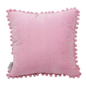 Urban Loft by Westex Pom Pom Lady Decorative Cushion - 18-in x 18-in - Pink