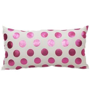 Urban Loft by Westex Foil Dots Large Decorative Cushion - 14-in x 26-in - Pink