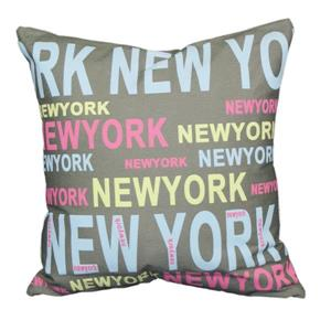 "Coussin décoratif «New York», 18"" x 18"", multicolore"