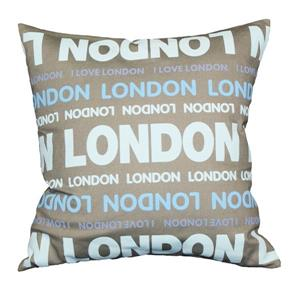 "Coussin décoratif «London Colours», 18"" x 18"", multicolore"