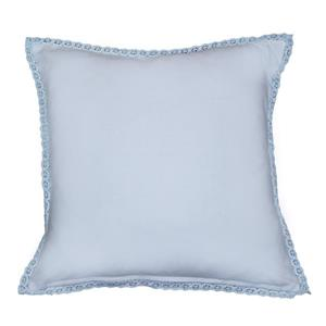 Urban Loft by Westex Crochet Polyester Decorative Cushion - 18-in x 18-in - Blue