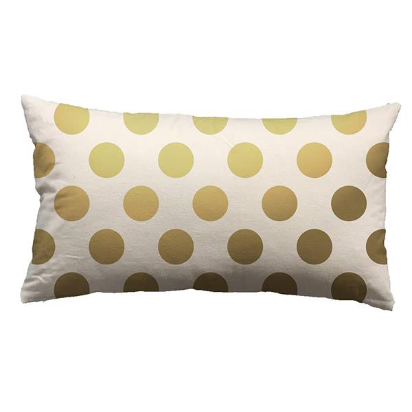 Urban Loft by Westex Foil Dots Large Decorative Cushion - 14-in x 26-in - Gold