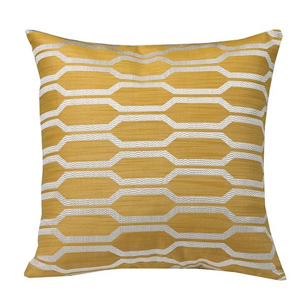 Urban Loft by Westex Hexagon Decorative Cushion - 20-in x 20-in - Yellow