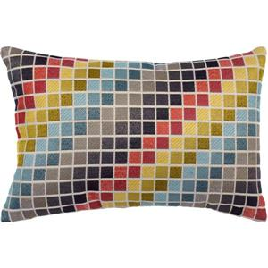 Urban Loft by Westex Tetris Decorative Cushion - 14-in x 20-in- Multicoloured
