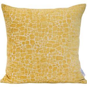 """Coussin décoratif bébé giraffe, 20"""" x 20"""" x 4"""", jaune"""