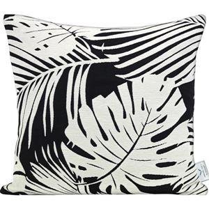 """Coussin décoratif «Fern» , 20"""" x 20"""" x 4"""", noir/blanc"""