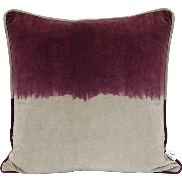 Urban Loft by Westex Velvet 2-Tone Decorative Cushion - 20-in x 20-in - Wine