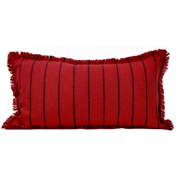 Urban Loft by Westex Fringe Striped Decorative Cushion - 14-in x 26-in - Multi