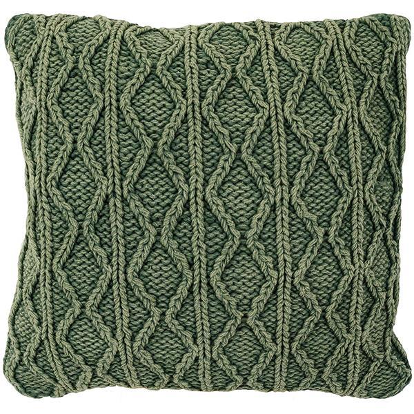 Urban Loft by Westex Stonewash Rope Decorative Cushion - 20-in x 20-in - Green
