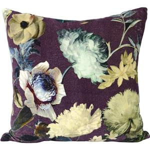 Urban Loft by Westex Velvet Floral Decorative Cushion - 20-in x 20-in - Wine