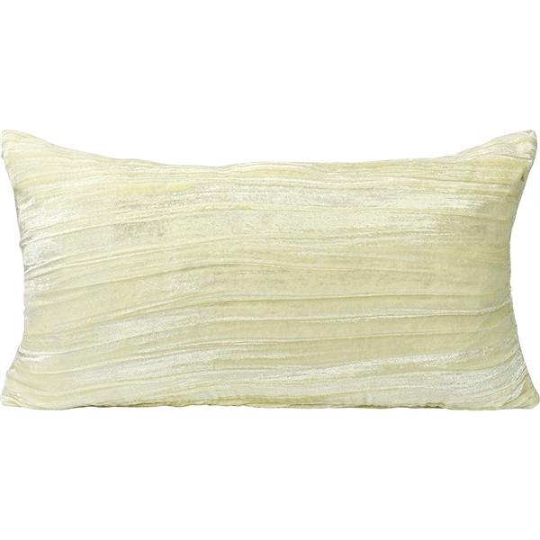 Urban Loft by Westex Velvet Decorative Cushion - 14-in x 26-in - Ivory