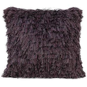 Coussin décoratif à poil long «Shiny», violet