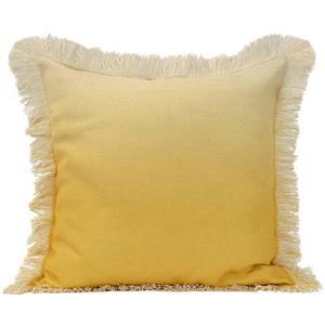 """Coussin décoratif ombré «Fringe», 20"""" x 20"""", jaune"""