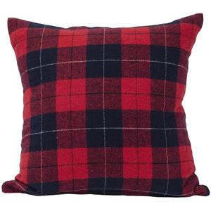 Urban Loft by Westex Tartan Decorative Cushion - 20-in x 20-in - Multicoloured
