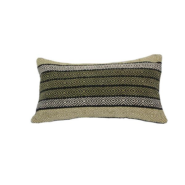 Urban Loft by Westex Diamond Decorative Cushion - 14-in x 26-in - Green/Natural