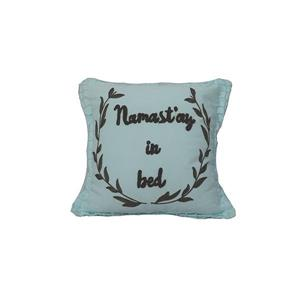 Urban Loft by Westex Typo Namaste Decorative Cushion - 20-in x 20-in - Blue