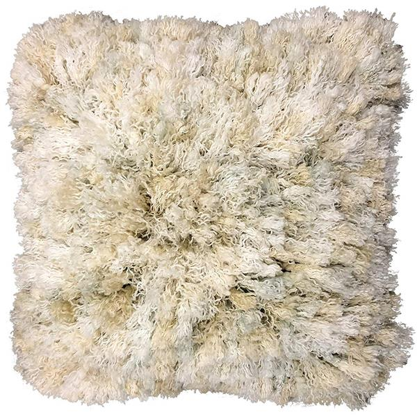 Urban Loft by Westex Curly Shag Decorative Cushion - Cream/Smoke