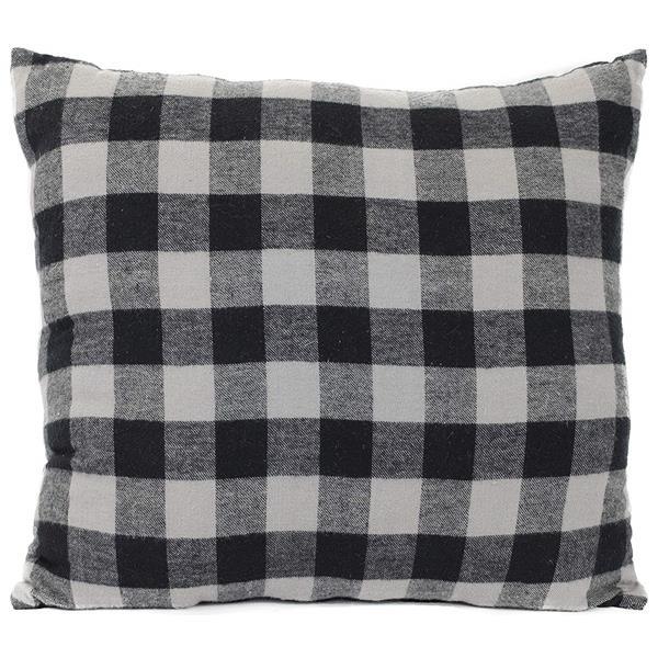 Urban Loft by Westex Buffalo Checks Decorative Cushion - 20-in x 20-in - Black