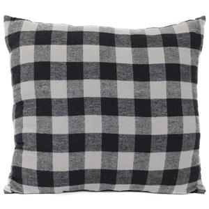 Urban Loft by Westex Buffalo Checks Decorative Cushion - 20-in x 20-in - Black