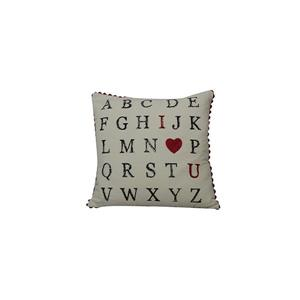 Urban Loft by Westex Typo Alphabet Decorative Cushion - 20-in x 20-in
