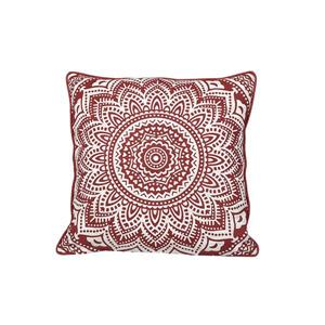 Urban Loft by Westex Starburst Medallion Decorative Cushion - 20-in x 20-in - Brick