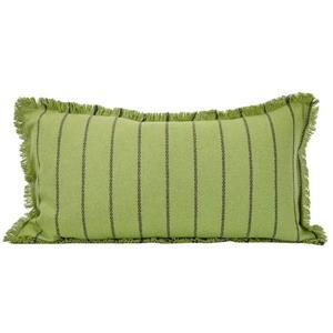 "Coussin décoratif rayé, 14"" x 26"", vert"