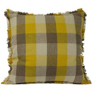 Urban Loft by Westex Buffalo Check Decorative Cushion - 24-in x 24-in - Gold/Tan
