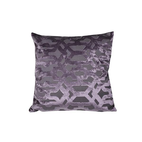 Urban Loft by Westex Velvet Geo Decorative Cushion - 20-in x 20-in - Purple