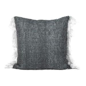 Urban Loft by Westex Mohair Solid Decorative Cushion - 20-in x 20-in - Charcoal