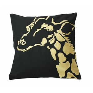 Urban Loft by Westex Africa Giraffe Decorative Cushion -20-in x 20-in - Gold/Black