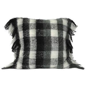 Urban Loft by Westex Mohair Plaid Decorative Cushion - 20-in x 20-in - Multicoloured