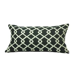 Urban Loft by Westex Chain Link Decorative Cushion - 14-in x 26-in - Pewter