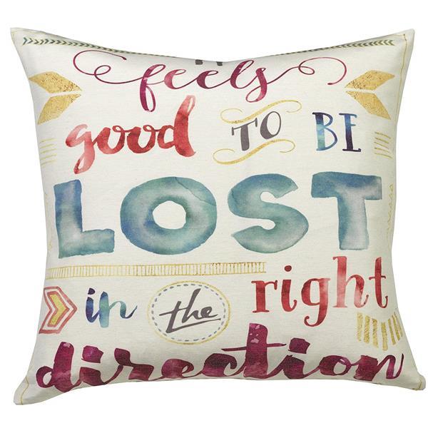 Urban Loft by Westex Wa Lost Direction Decorative Cushion - 20-in x 20-in - Multi