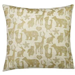 Urban Loft by Westex Animal Farm Decorative Cushion - 20-in x 20-in - Gold