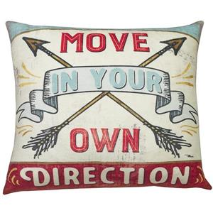 Coussin décoratif «Move Direction» , 20 po x 20 po, multi