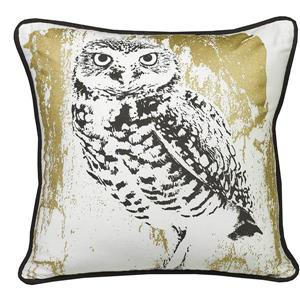 Urban Loft by Westex Snow Owl Decorative Cushion - 20-in x 20-in - Multicoloured