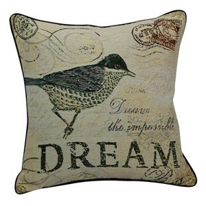"Coussin décoratif «Dream Bird», 20"" x 20"", multicolore"