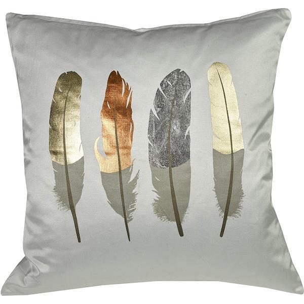 """Coussin décoratif «Feathers», 20"""" x 20"""", multicolore"""